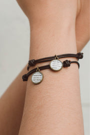 Adjustable Leather Define Bracelet