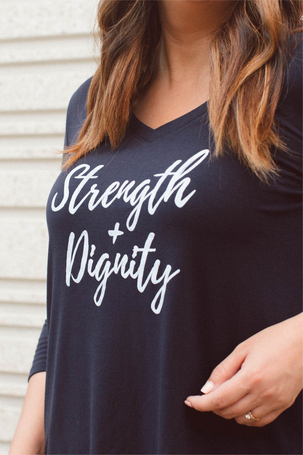 Strength & Dignity 3/4 Sleeve Top