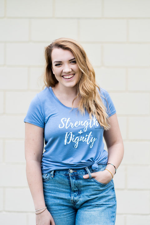 Strength + Dignity Pocket Tee