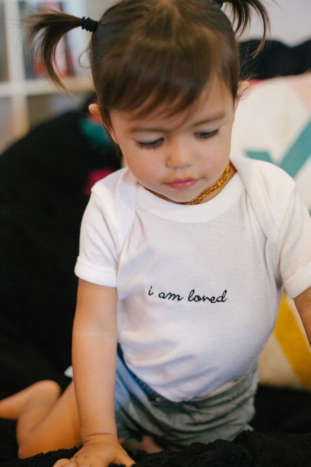 """I am loved"" Onesie"