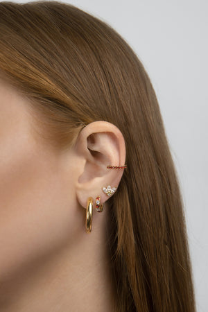 Multi Color Earrings gold