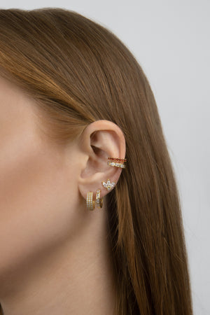 Zirkonia Earrings Gold