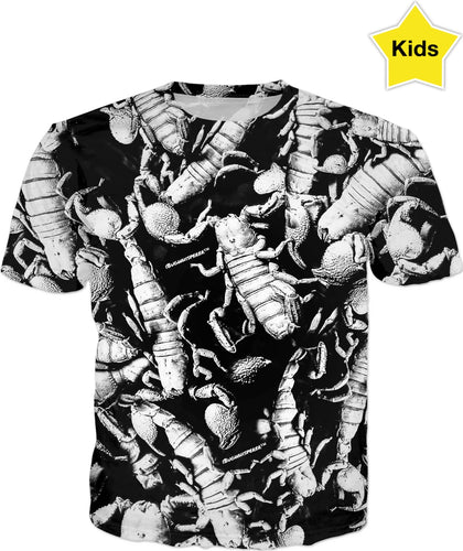 B&W SCORPION KIDS T-SHIRT