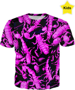 PURPLE SCORPION KID'S T-SHIRT