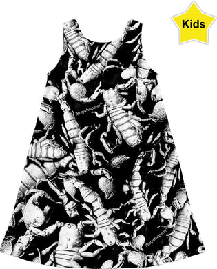B&W SCORPION KIDS DRESS