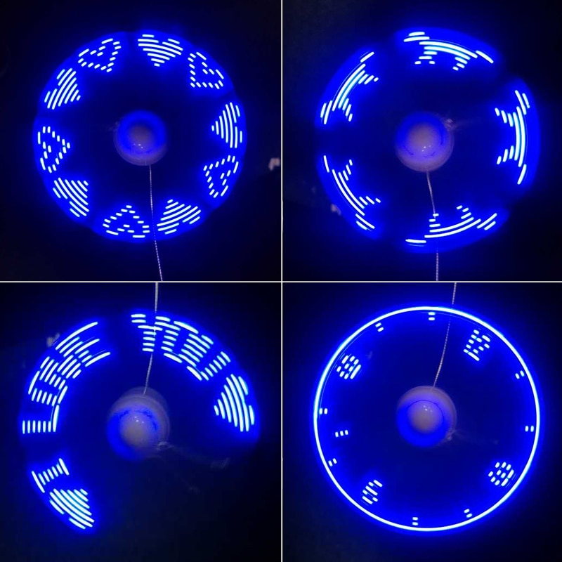 FLEXIBLE MINI USB FAN WITH LED LIGHT