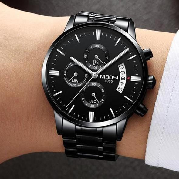 (Limited time offer) Men's Casual Watches Stainless Quartz Chronograph Waterproof Watch