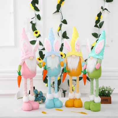 (Pre-sale)Adjustable-legged Plush Gnome Doll For Easter Gift And Decoration