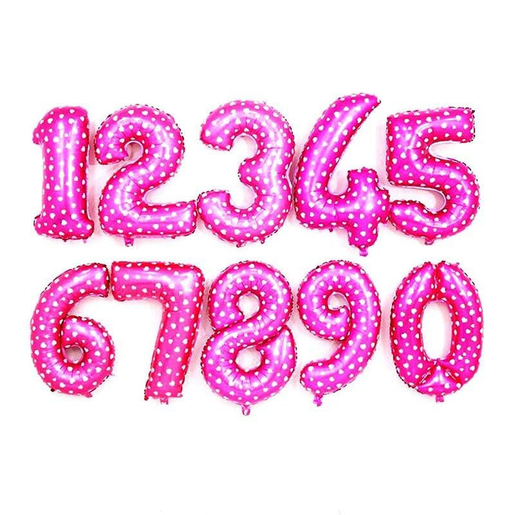 16 32inch Number Balloon Rose Gold Black pink Silver letter  Balloons