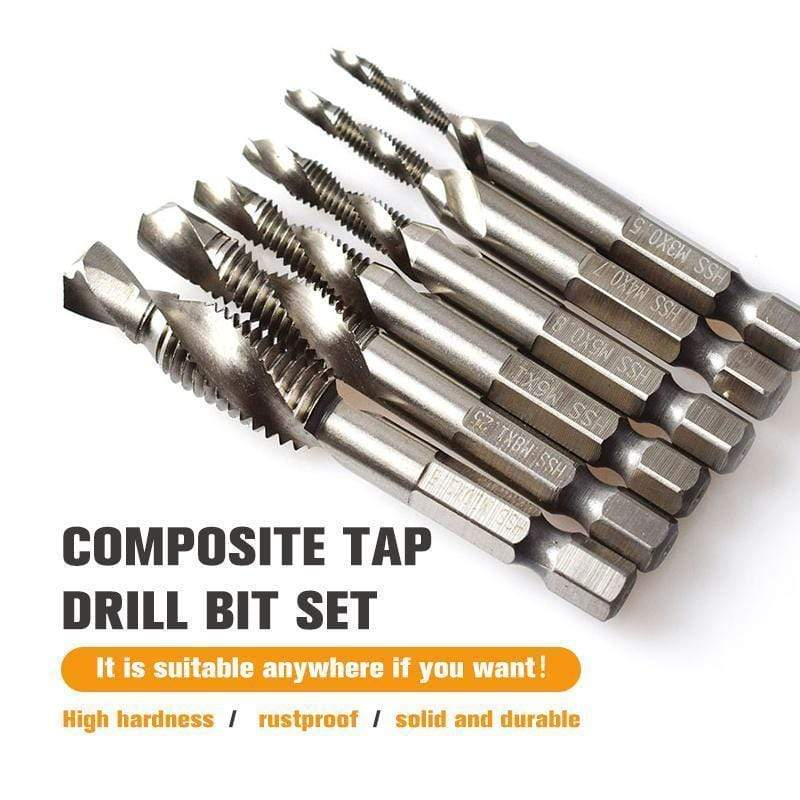 【Hot Sale Today! Up to 50% Discount!】Composite Tap Drill Bit Set