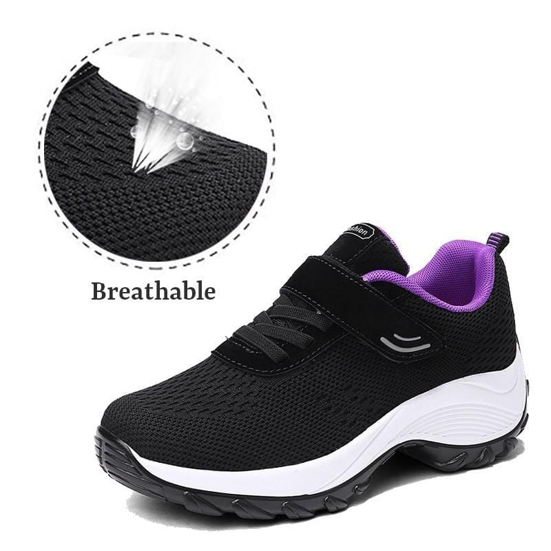 Women's Comfortable Woven Knit Sneakers