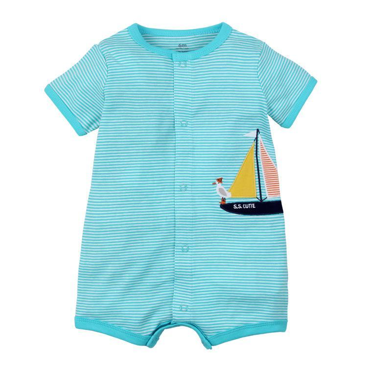 2019 Summer baby boys clothes cotton Jumpsuit Short sleeve Roupas Menino for Baby Boy Body suits , 0-24M kids rompers