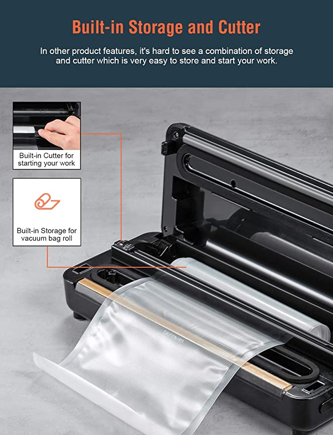 3 In 1 Vacuum Sealer And sealed bag