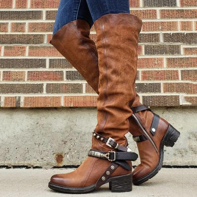 Buckled Boots Cowgirl Boots
