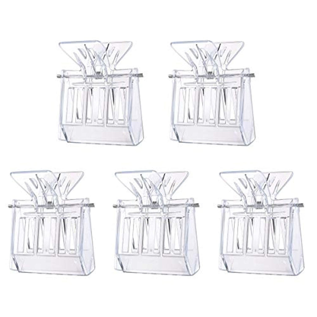 Bee Queen Catcher Plastic Queen Bee Cage Clips Beekeeping Tools 5pcs (Transparent)