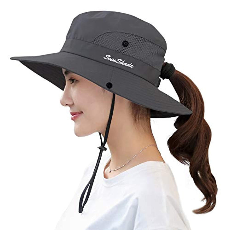 Women's Outdoor UV Protection Foldable Mesh Wide Brim Beach Fishing Hat