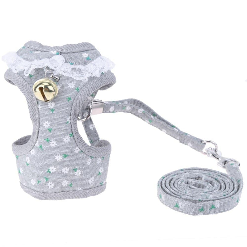 Dog Cat Puppy Protective Vest Design Harness Collar Bell Breathable Pet Walking Leash Pet Supplies