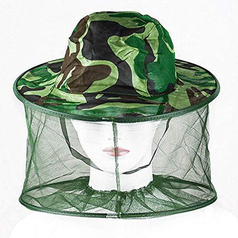 Camouflage Beekeeper Anti-mosquito Bee Bug Insect Fly Mask Cap