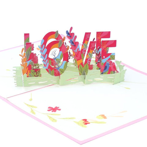 Love Explosion 3D Pop Up Valentine's Day Cards And Cute Invitation Cards