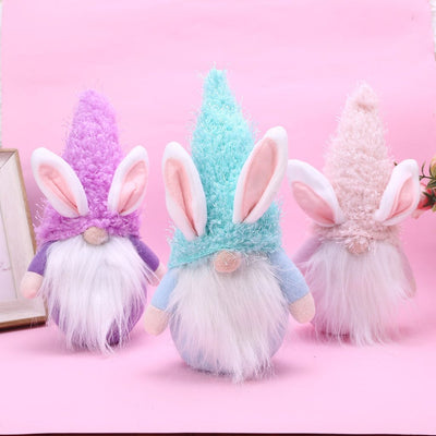 Handmade Plush Bunny Gnome Dolls For Easter Gifts And Home Decoration