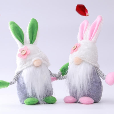 Handmade Rabbit Gnome Doll For Easter Gift