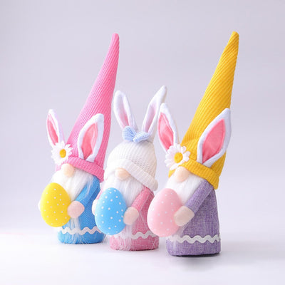 Lovely Bunny Gnome Doll For Spring Easter Gift And Decoration