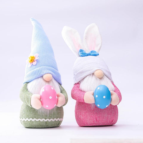 Easter Plush Gnome Doll With Lovely Eggs For Present And Decoration