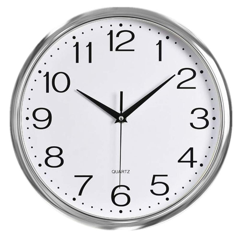 Modern Wall Clock, Silent Non-Ticking Quartz Decorative Battery Operated  (12 inch, Arabic Numeral)