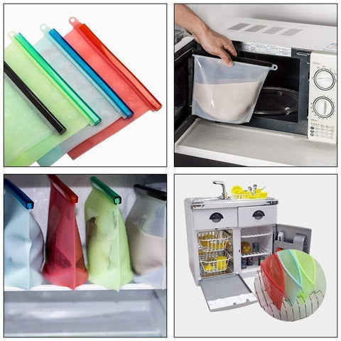 Silicone food preservation storage bag