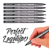 Hand Lettering Pens, Ieovo Calligraphy Pen Brush Markers Set Black, Refillable - 4 Size(6 Pack) for Writing, Painting and More