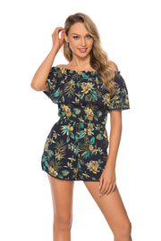 Women's Off-Shoulder Popover Bodice Romper