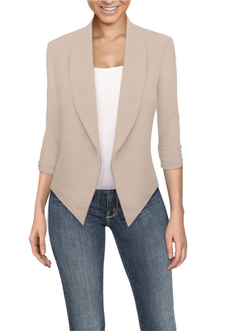 Womens Casual Work Office Open Front Blazer Jacket