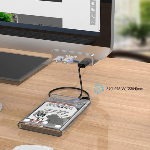 Mountable Desk Side USB 3.0 Adapter Hub