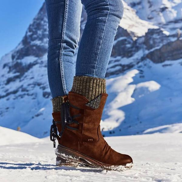 Christmas Sale! Winter Warm Back Lace Up Boots Shoes