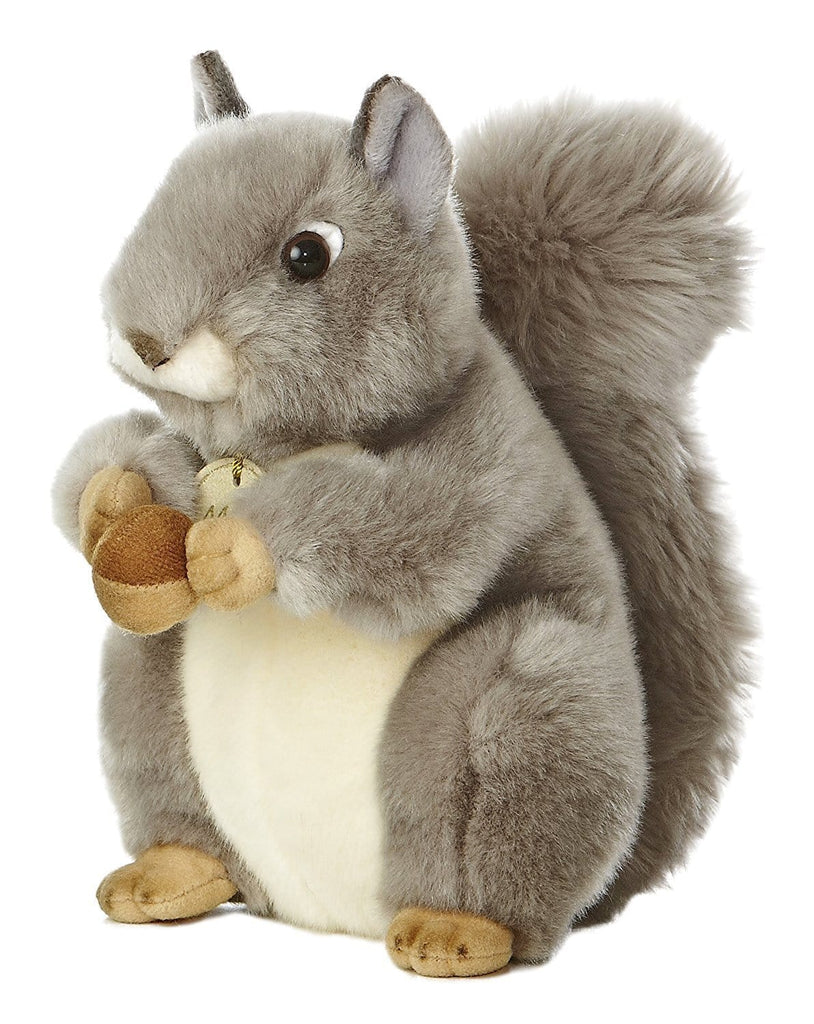"Miyoni Grey Squirrel 8"" Plush"