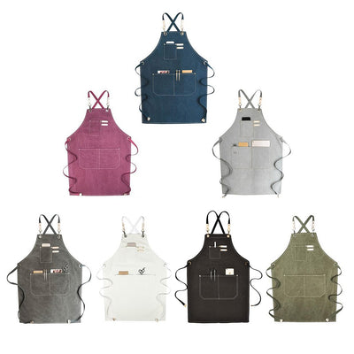 Canvas Apron With Adjustable Straps For Men Women