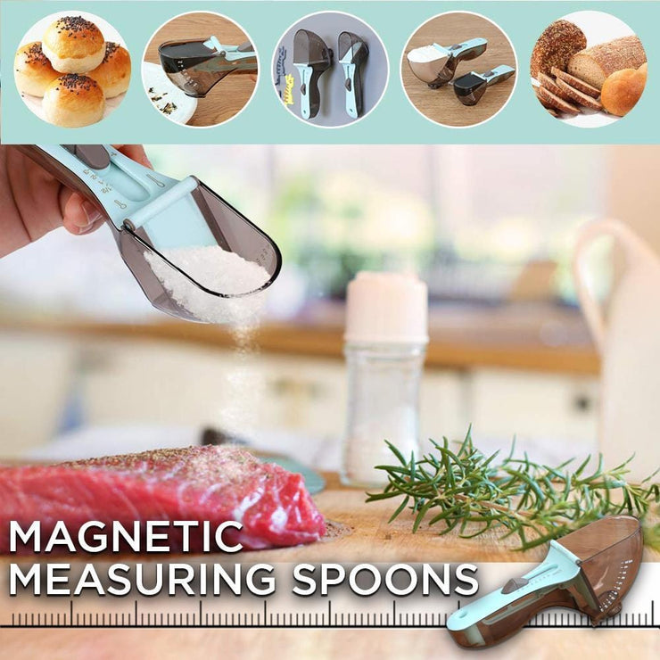 Magnetic Adjustable Measuring Spoons - 2PCS
