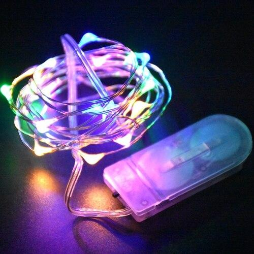 Battery LED String Light 2M 20LED Silver Wire Holiday Outdoor Waterproof Fairy Lights for Christmas Party Wedding Decoration