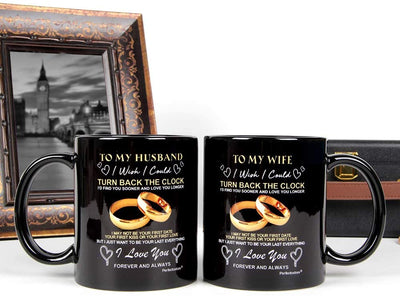 Ceramics Coffee Couple Mug Gift To My Wife Or To My Husband Valentine's Day Gift Present