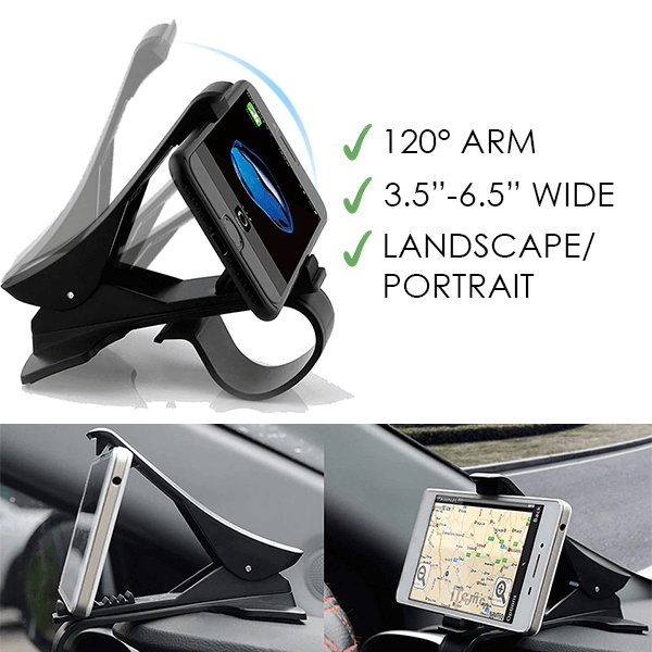 New Universal Rotatable Car Phone Clip Holder