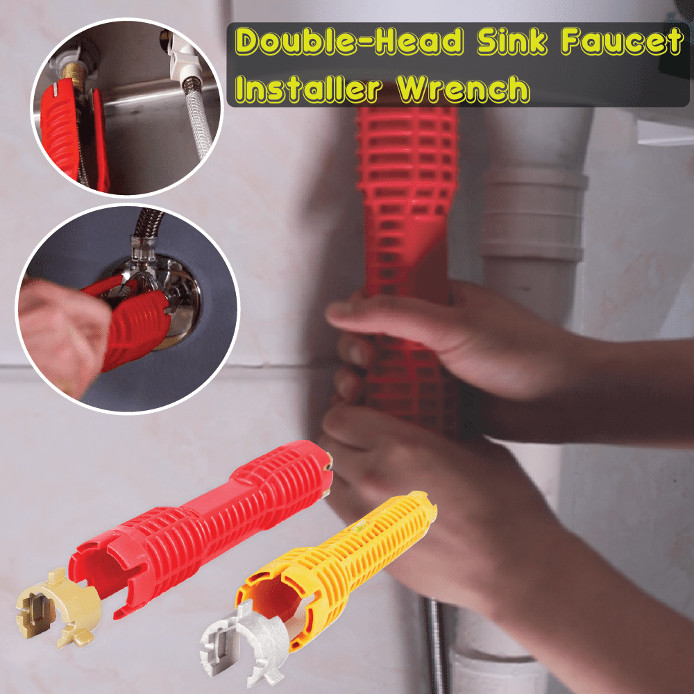 Double-Head Sink Faucet Installer Wrench