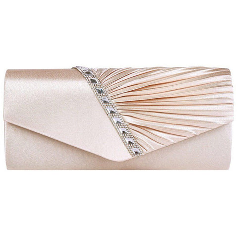 Women Evening Bag Diamond Ruffle Party Banquet Glitter Bag For ladies Wedding Clutches Handbag Chain Shoulder Bag Bolsas
