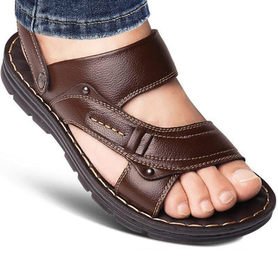 Genuine Leather Men's Sandals Open Toe