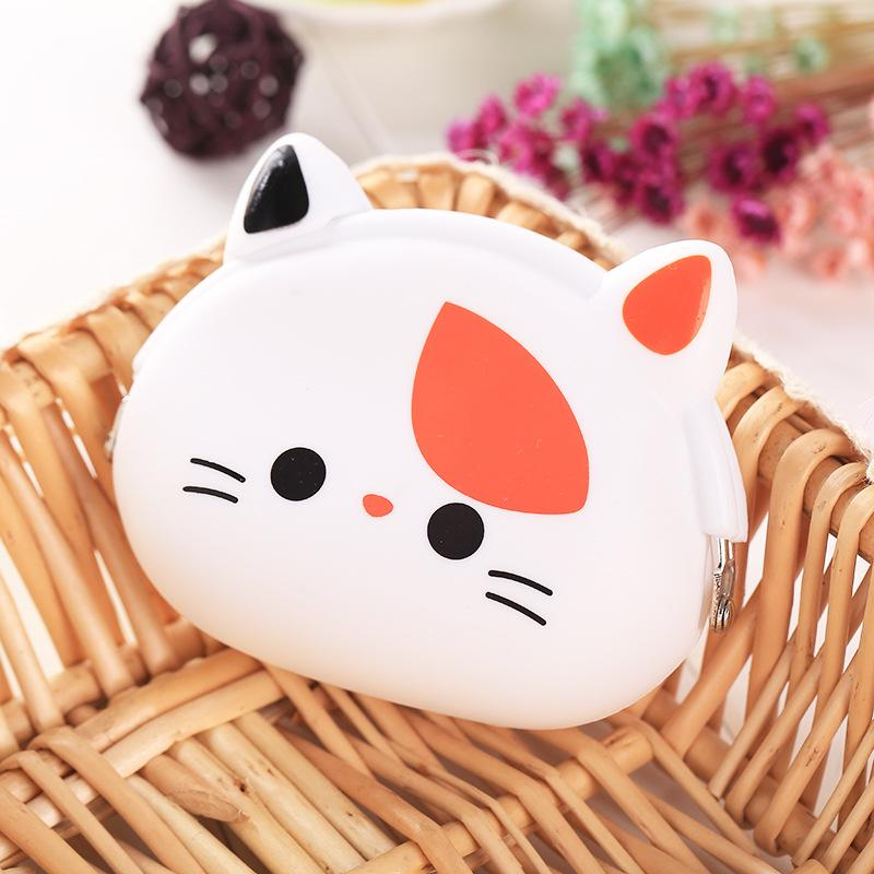 Girls Animals Mini Coin Purse Silicone Mini Coin Bag Change Wallet Purse Small Women Key Wallet coin Wallet Children Kids #C