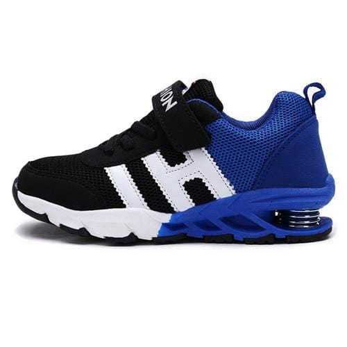 New Design Children Sports Shoes Boys Girls Spring Damping Outsole Slip Patchwork Breathable Kids Sneakers Child Running Shoes