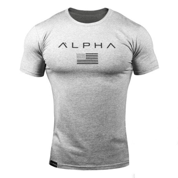 New Mens gyms t shirt  Short Sleeve workout male Casual Tees Tops