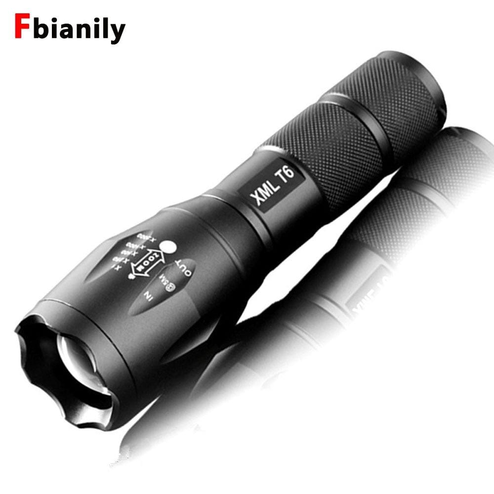 Portable LED Flashlight LED Torch Zoomable Flashlight 8000LM E17 CREE XM-L T6 5 Mode Light For 18650 or 3xAAA NO Battery