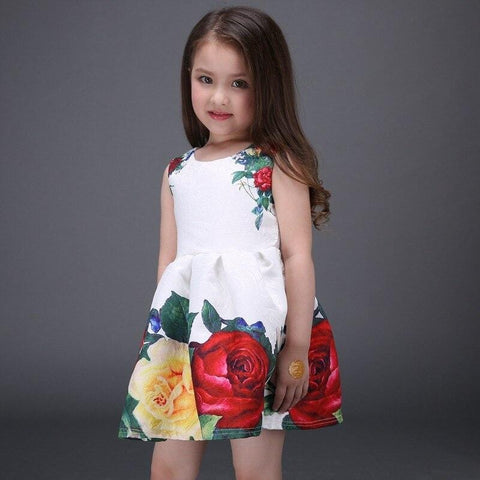 Princess Soft Dress Girls Ball Gown Floral Christening Evening Party Dresses Girl Wedding Clothes Kids White Dress For Gills