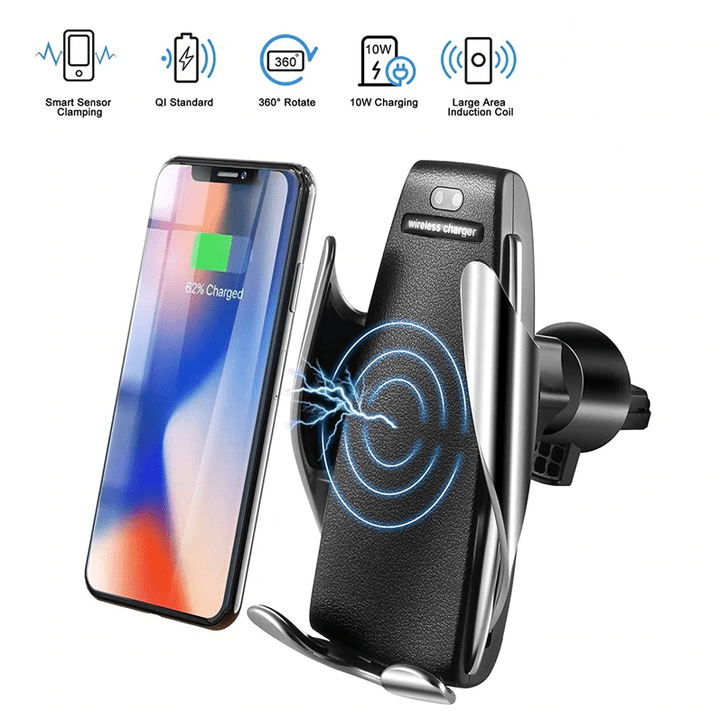 50% OFF- Wireless Automatic Sensor Car Phone Holder and Charger