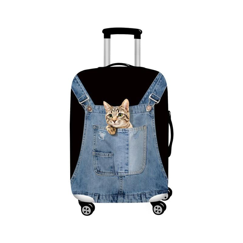 Cat Dog Travel Luggage Cover For 18-32Inch Suitcase Travel Bag Protection Case Luggage Bag Dust Cover Travel Accessories